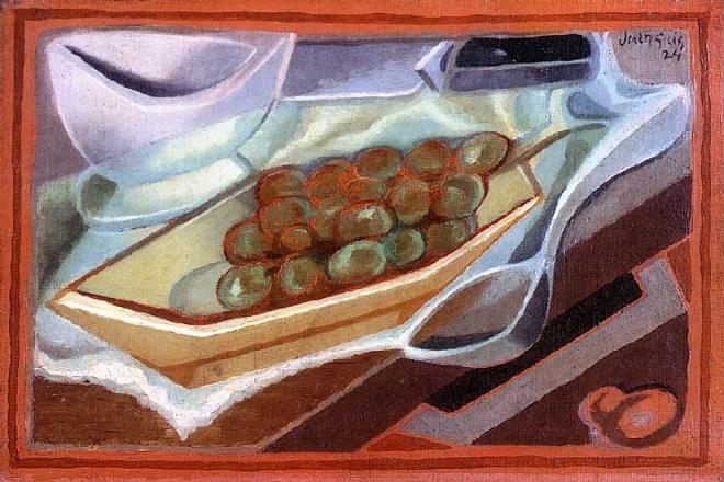 cubismo 5Juan+Gris+-+The+Bunch+of+Grapes+(1924)+